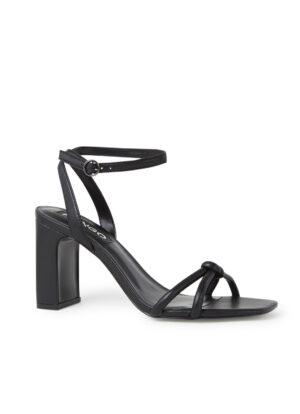 Sandalette met gevlochten detail