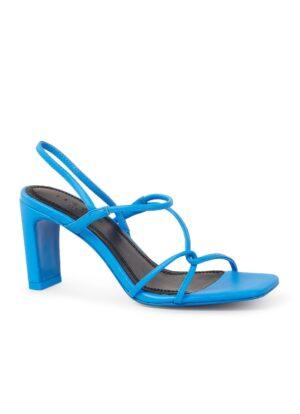Sandalette van leer