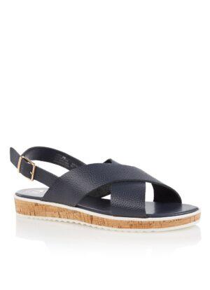 Lorde sandaal van leer met kurkzool