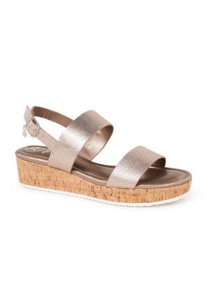Lenniie sandaal van leer met metallic finish
