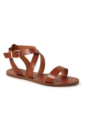 Leelah sandaal van leer
