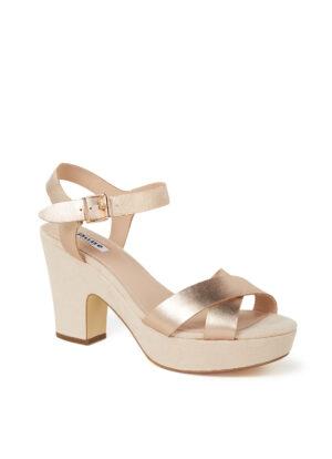 Jiyla sandalette van leer