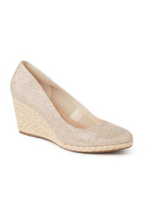 Annabels sandalette met sleehak en glitter finish