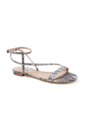 Nicoletta sandaal van leer met slangenprint