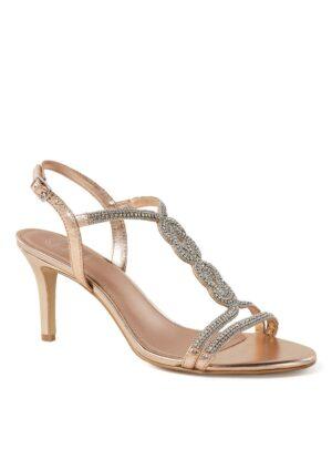 Meena sandalette van leer met strass