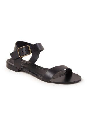 Corto sandaal van leer