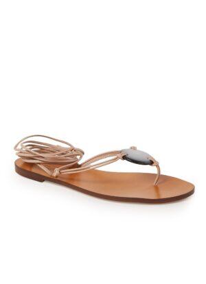 Reese sandaal van leer