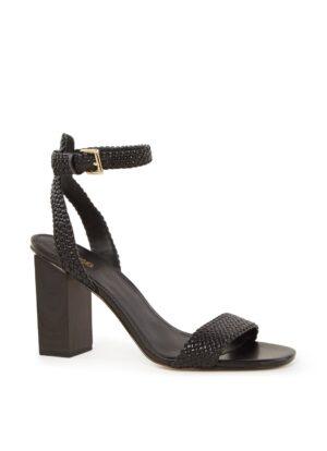 Petra sandalette met gevlochten structuur