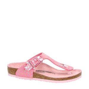 Birkenstock Gizeh slippers met stippen (Roze)