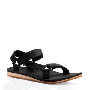 Teva Original leren outdoor sandalen zwart (Zwart)