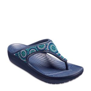 Crocs Sloane teenslippers met siersteentjes blauw (Blauw)