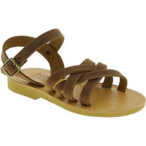 Attica Sandals HEBE NUBUK DK BROWN