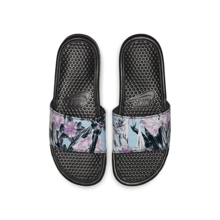 Nike Benassi JDI Floral Slipper voor dames - Zwart