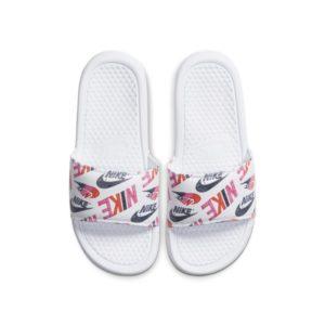 Nike Benassi JDI Floral Slipper voor dames - Wit