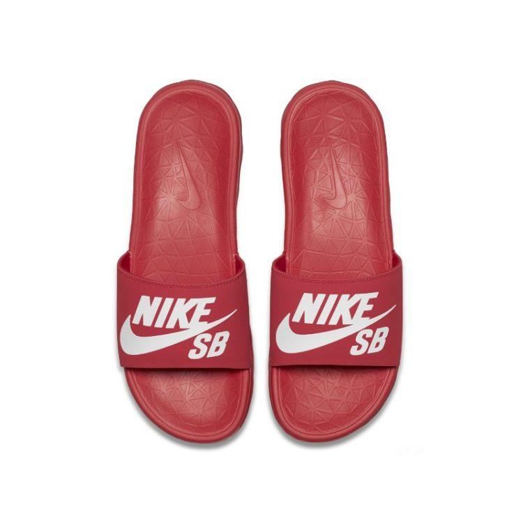 Nike SB Benassi Solarsoft Slipper heren - Rood