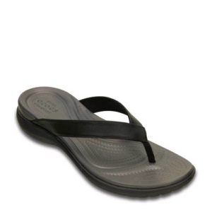 Crocs Capri Twist teenslippers (Zwart)
