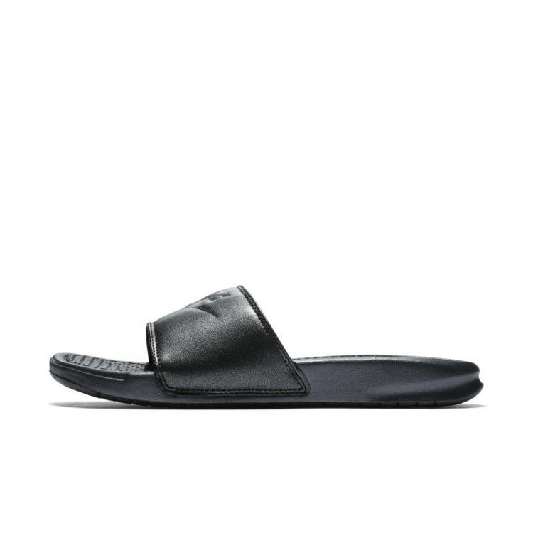 Nike Benassi Metallic QS Slippers voor dames - Zwart