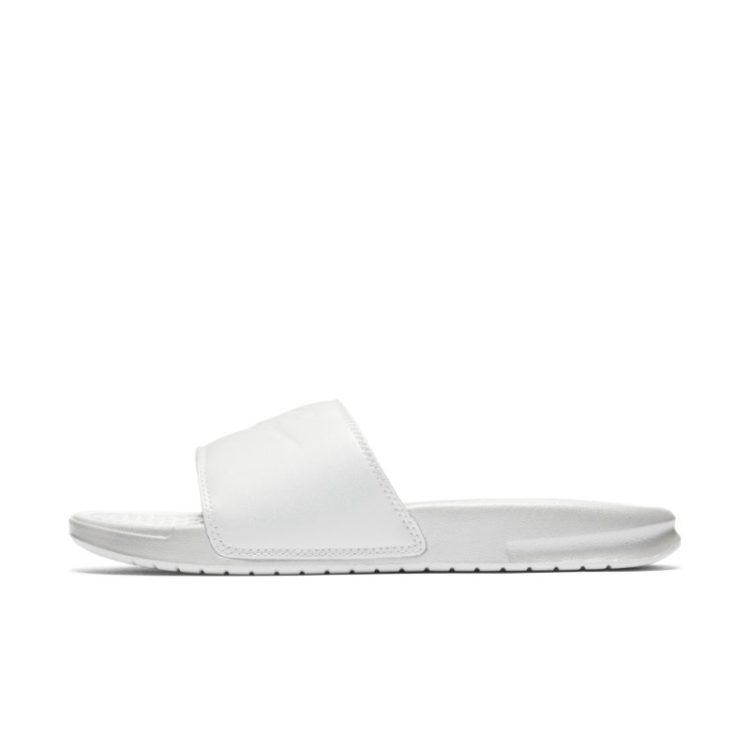 Nike Benassi Metallic QS Slippers voor dames - Wit