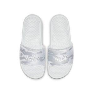 Nike Benassi JDI TXT SE Slipper voor dames - Zilver