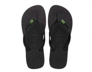 Havaianas Brasil Zwarte Slipper (Zwart)