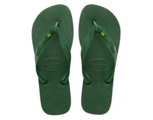 Havaianas Brazil Logo Groene Slippers (Groen)