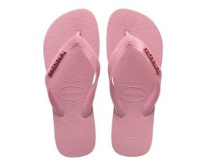 Havaianas Top Logo Metallic Roze Slippers (Roze)