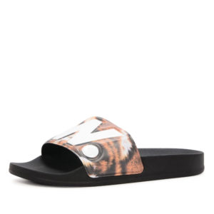 G-Star cart slide II tijgerprint slipper (zwart)