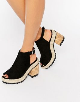 ASOS TOBY Peep Toe Sling Back met hakken sandalen 850069 (Zwart)