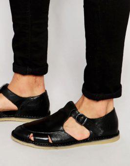 Kurt Geiger Dwight Leather sandalen 865408 (Zwart)