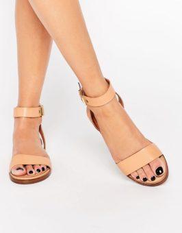 ALDO Erina Nude Simple Strap platte sandalen 805795 (Nude)