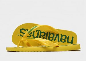 Havaianas Logomania Flip Flops (Green/Yellow)