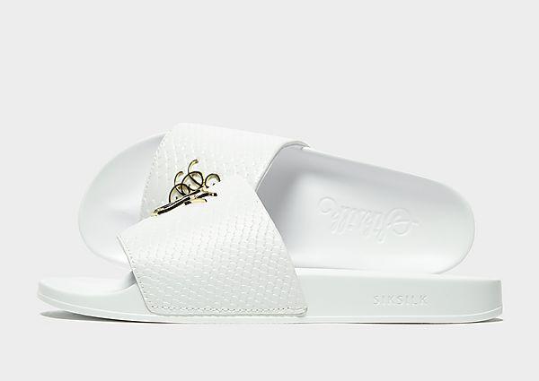 SikSilk Roma 'Lux Slides (White/Gold)