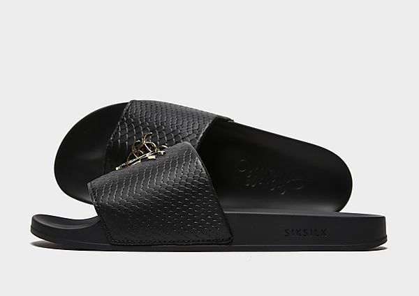 SikSilk Roma 'Lux Slides (Black/Gold)