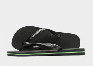 Havaianas Brazil Logo Flip Flops (zwart)