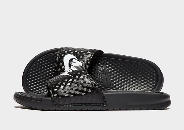 Nike Benassi Just Do It Slippers Dames (Black/White)