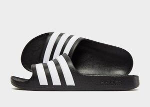 adidas Adilette Aqua Slides Junior (Black/White)