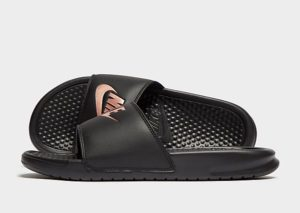 Nike Benassi Just Do It Slides Dames (zwart)