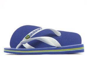 Havaianas Brazil Logo Flip Flops (Marine Blue)
