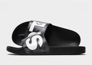 Levis June Slides (Grey/Black)