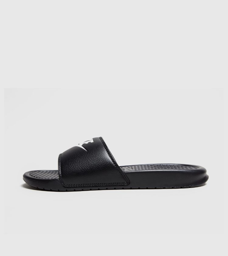 Nike Benassi Just Do It-slipper (zwart)